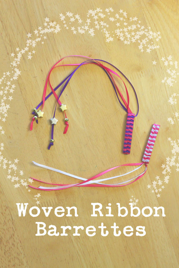 Create cute ribbon barrettes for back to school!