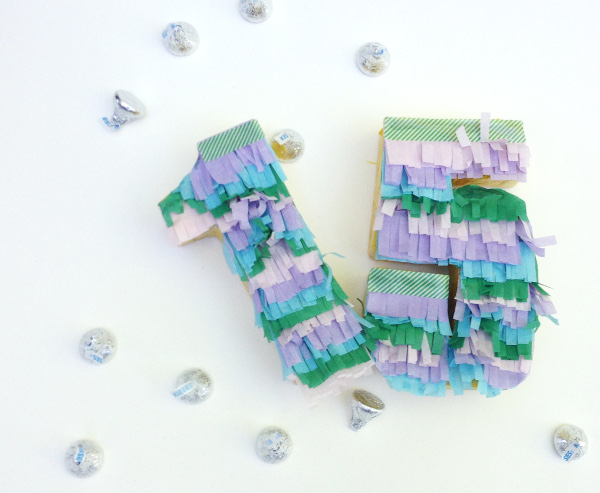 Celebrate a birthday or anniversary with fun number pinata favors!