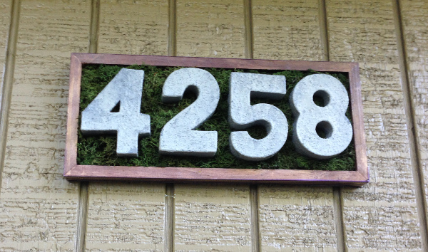 Faux Concrete House Numbers