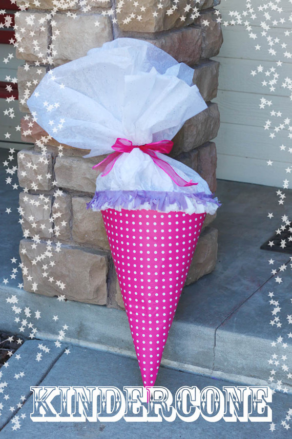 Make a Back to School Kindercone filled with gifts to send your child off!