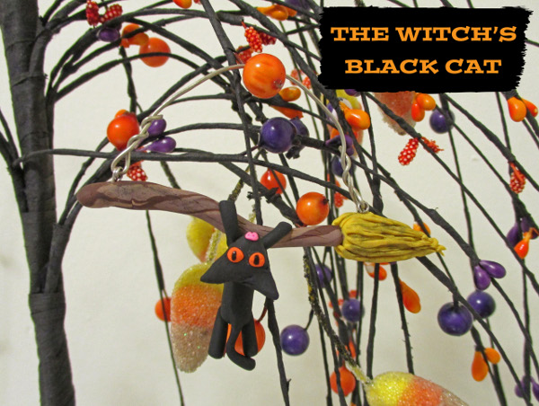 Make a fun Halloween ornament from polymer clay!