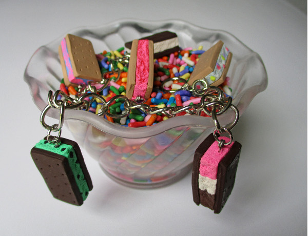 Ice Cream Sandwich Charms