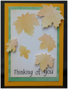 Make a pretty card to celebrate fall and a loved one.