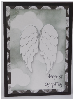 Feathered Wings Sympathy Card