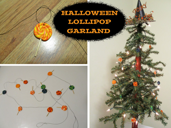 Make some colorful clay lollipops for a unique Halloween decoration