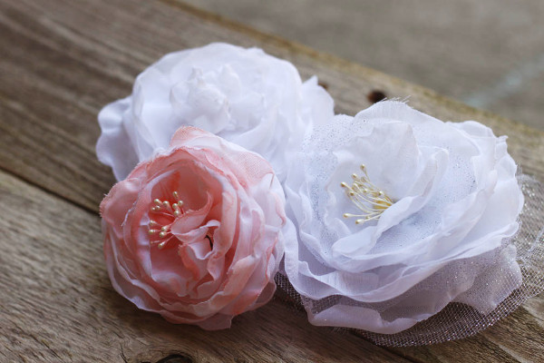 Sew up some pretty roses for accessories or other craft projects.