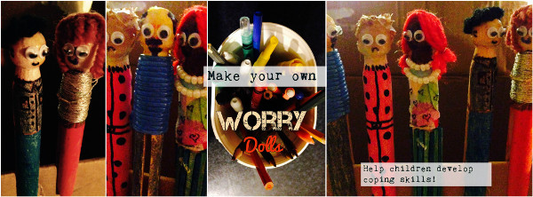 Teach kids to create their own worry dolls for times they feel overwhelmed