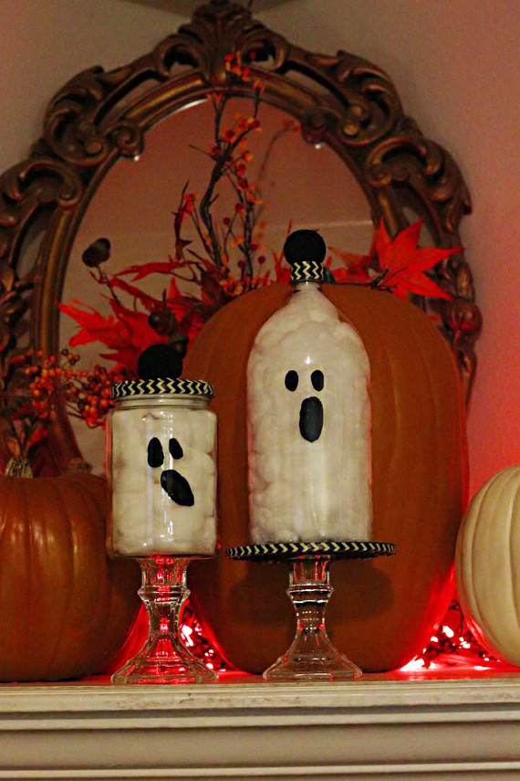 Create a spooky decoration for Halloween in no time using recycled materials