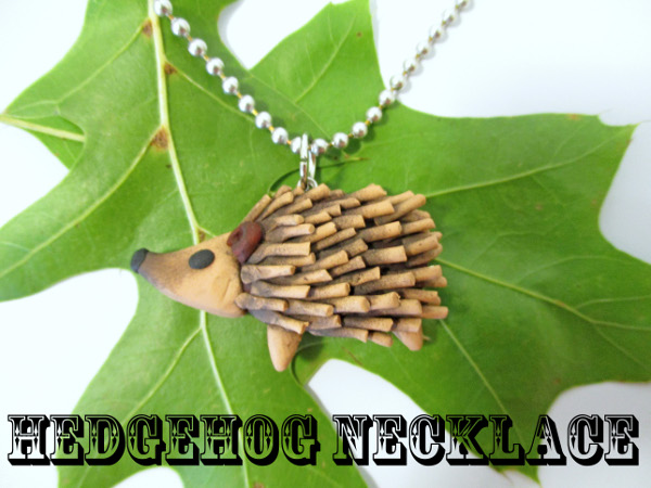 DIY a cute critter to wear around your neck with this fun Hedgehog polymer clay tutorial
