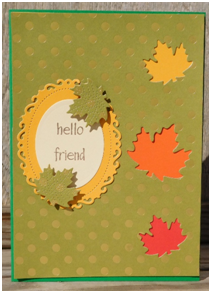 Make a cute fall themed card for any occasion.