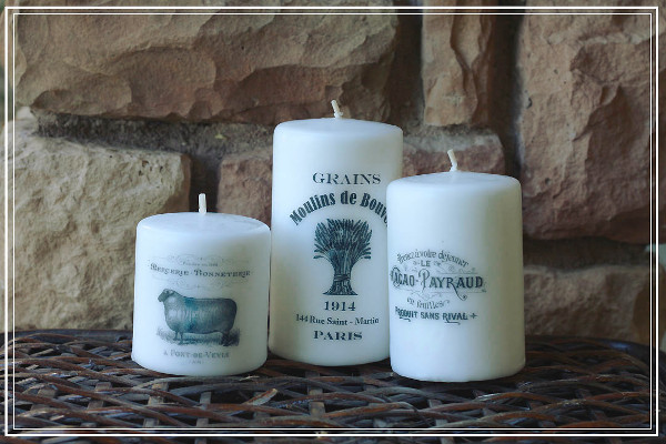 Tissue Paper Transfer Candles