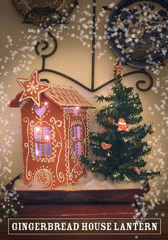 DIY a gingerbread house lantern you'll be able to use every year!