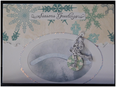 Glide a skater along inked ice for a creative and fun homemade card