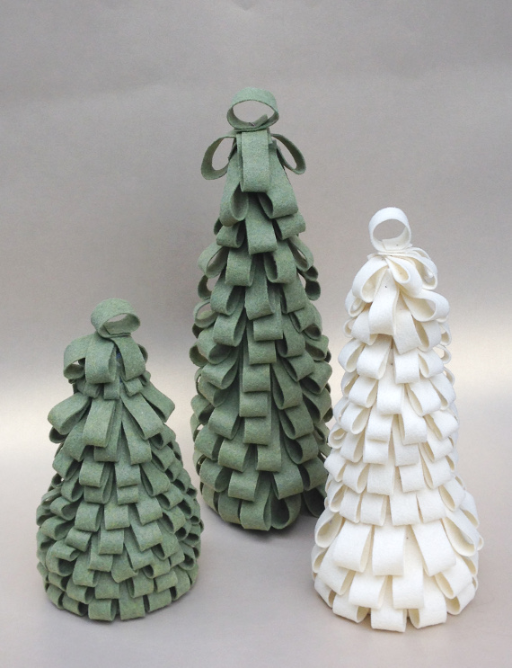 Craft up some fun and whimsical Christmas trees for your Holiday Decor