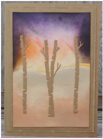 Create a pretty Fall sunset card for any occasion with Peg's technique.