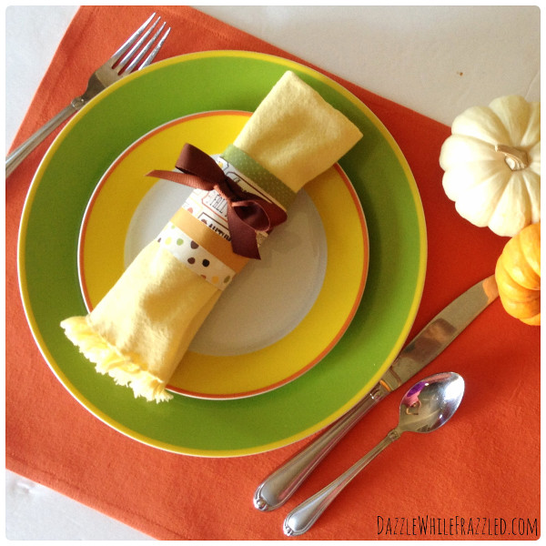 10 Minute Thanksgiving Napkin Rings