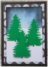 Create a card for any occasion this winter with a pretty night sky background.