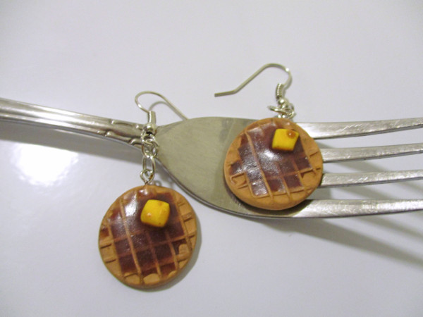 Create cute waffle earrings or pendants for your favorite breakfast lover.