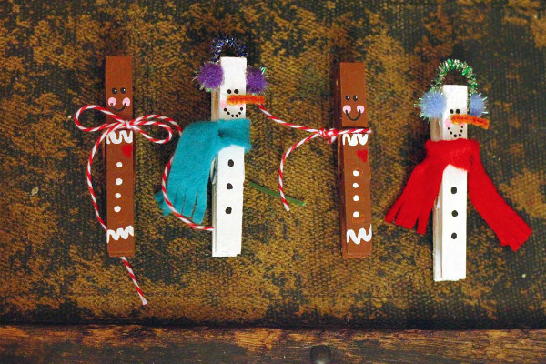 Clip on Clothespin Ornaments