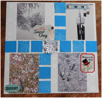 Fun Block Borders for Scrapbook Layouts