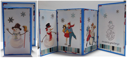 Customize your four folds card for any season or holiday!