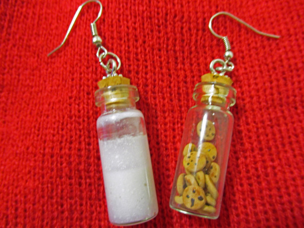DIY Earrings or a necklace with Santa's favorite snack!