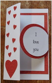 Make a lovely Valentine's Day card and send hearts to everyone you love