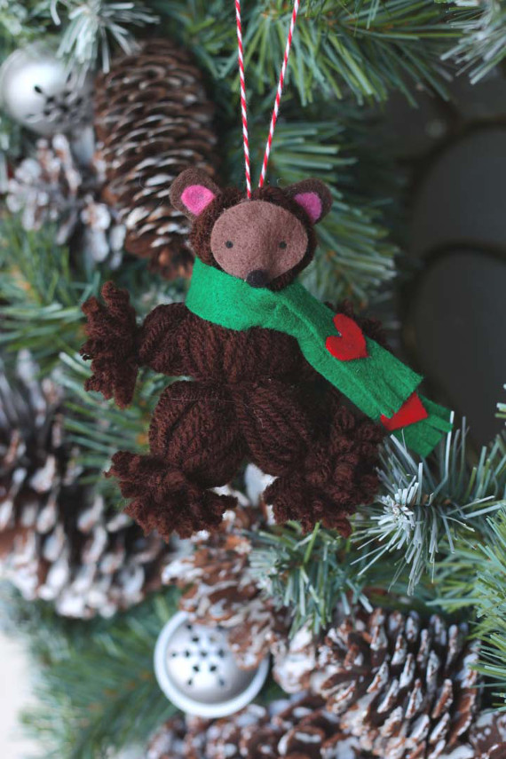 Bear Yarn Ornament