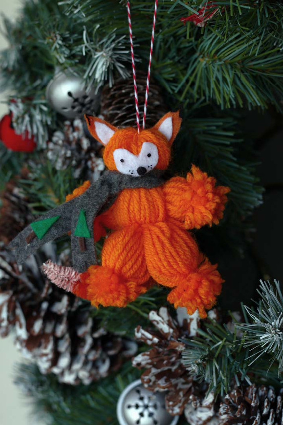 Yarn Fox Ornaments
