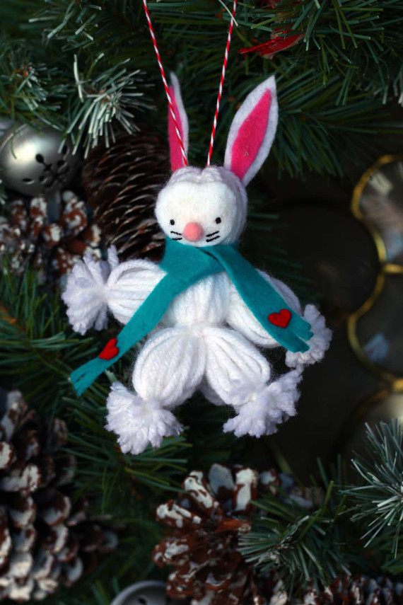 Woodland Bunny Ornament