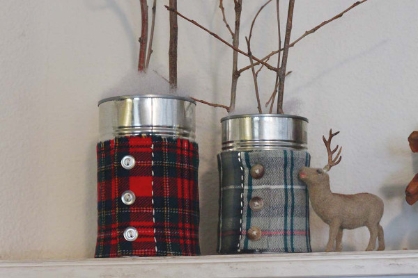 Flannel Shirt Vases