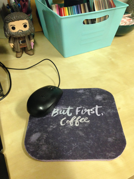 Turn your favorite printable image or photo into a mousepad that will always make you smile!