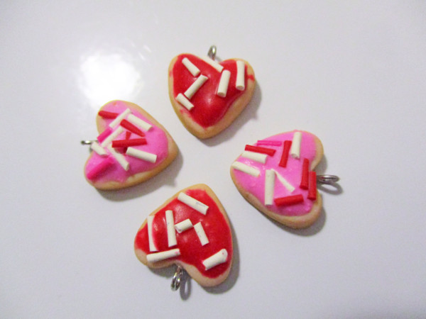 Create heart shaped sugar cookie charms for Valentine's Day