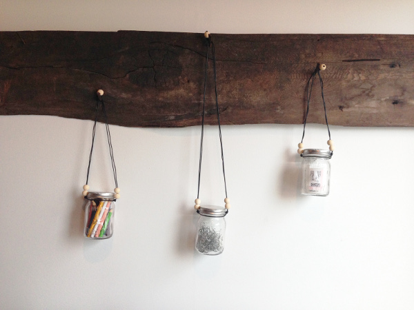 Hanging jars for storage or decoration