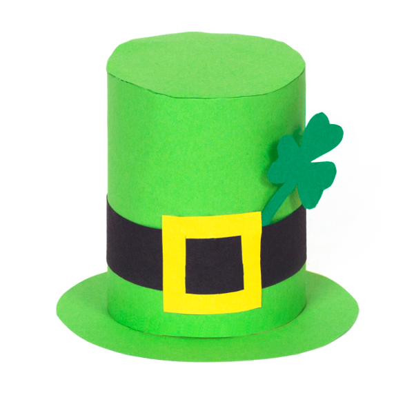 Upcycle a cardboard tube into a leprechaun hat!