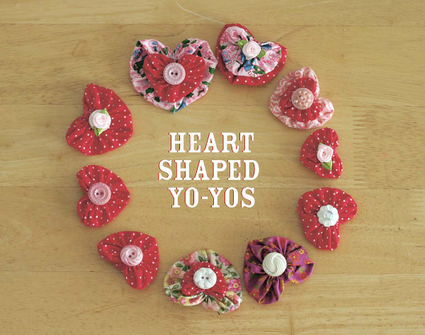 Create cute heart embellishments from scrap fabric