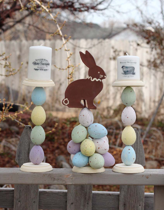 Create a cute Easter centerpiece for spring!