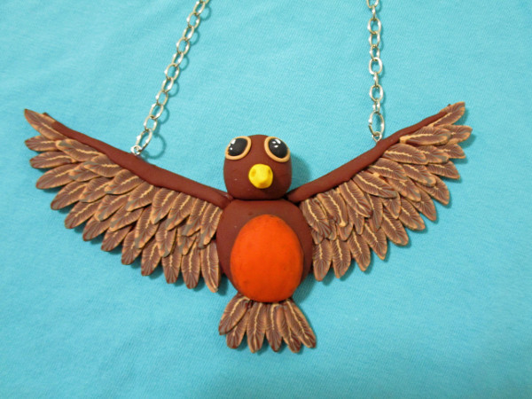 Welcome spring with an eye-catching statement necklace made from polymer clay