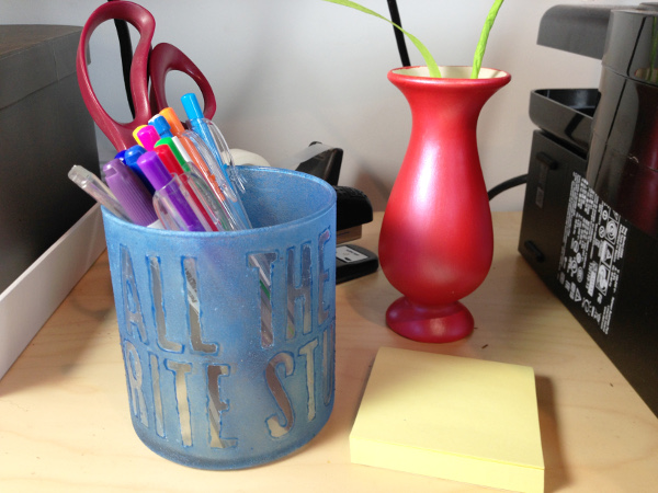 DIY Typographic Pencil Jar
