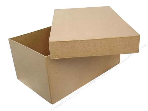 Ask the experts mixed media think crafts by createforless for Craft paper mache boxes