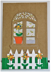 DIY window A-Frame card to celebrate spring!