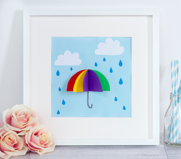 Brighten up those April showers with a cute 3D picture project