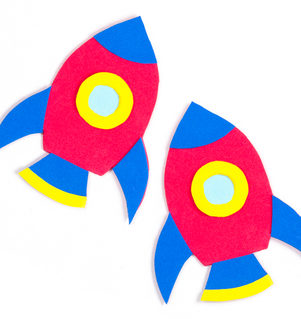Blast off with fun rocket magnets to make with the kids!