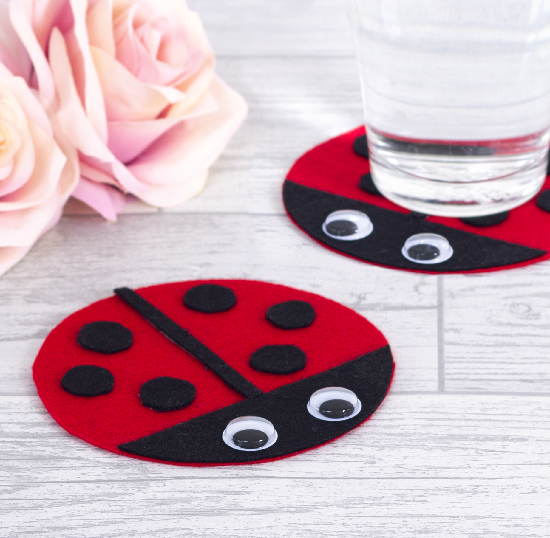 Fun ladybug coasters your kids can make!