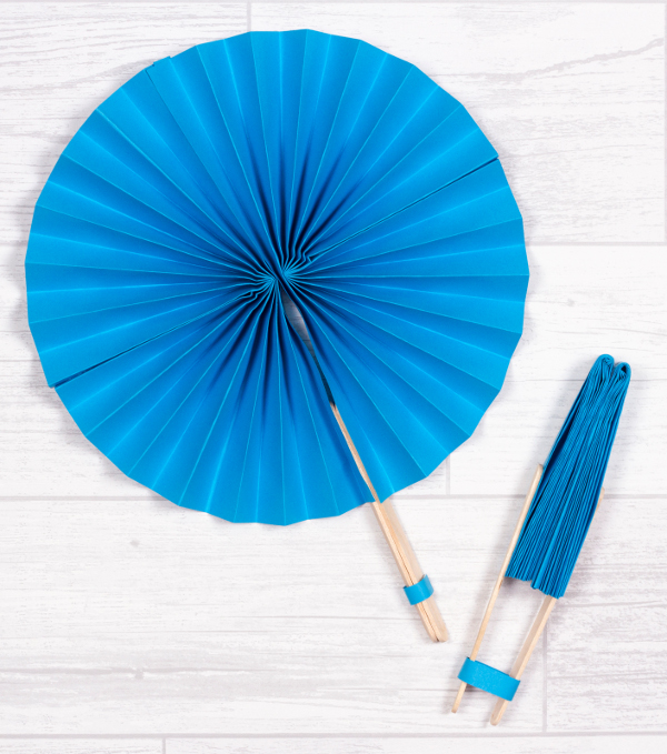 The weather is heating up! Grab one of these fun paper fans!
