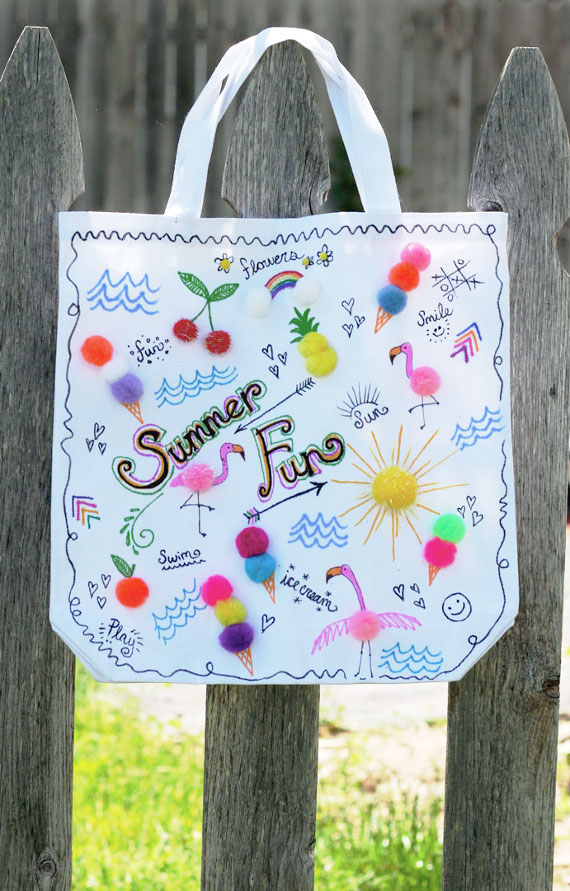 Make a 3D tote for all your summer goodies