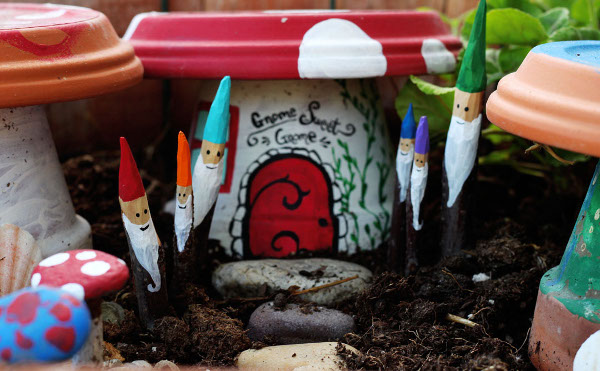 Make some fun little gnomes for your garden, planters, and more!