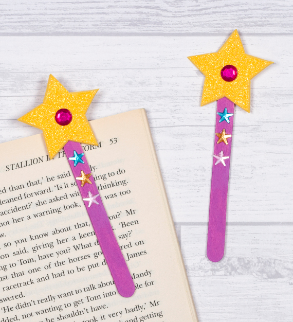Your fairy princess can learn to read with a helpful magic wand pointer and bookmark!