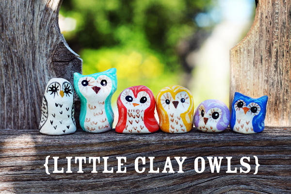 Create colorful owls with clay and imagination!