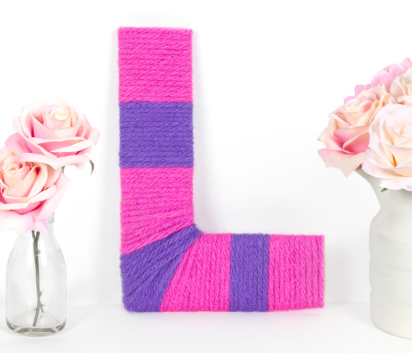 Decorate and recycle with this easy monogram craft